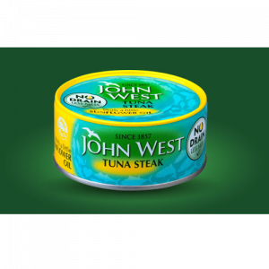 John West Tuna Steak with a little Sunflower Oil (110g)